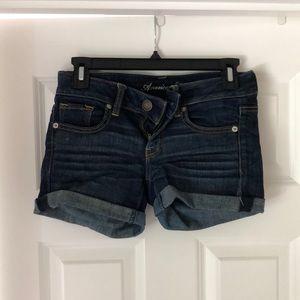 American Eagle Cuffed Denim Shorts